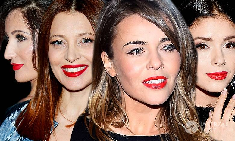Gwiazdy z czerwoną szminką na ustach