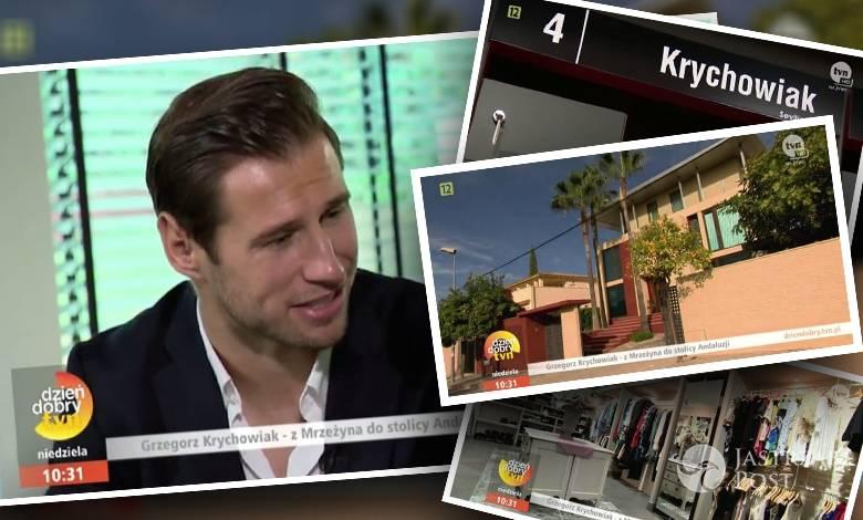 Dzień dobry TVN w domu Grzegorza Krychowiaka (fot. screen Dziendobry.tvn.pl)