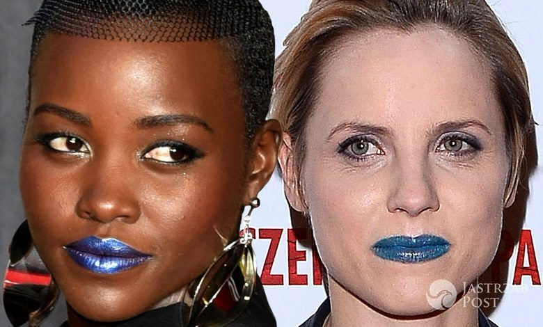Lupita Nyong'o i Julia Kijowska z niebieskimi ustami (fot .ONS)