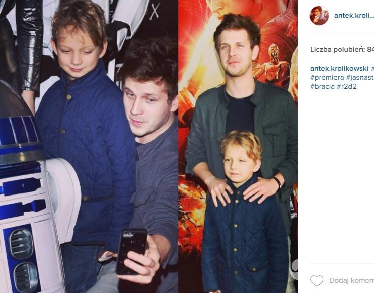 Antek Królikowski pokazał brata na Instagramie