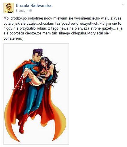 Urszula Radwańska skomentowała całą sprawę na swoim Facebooku