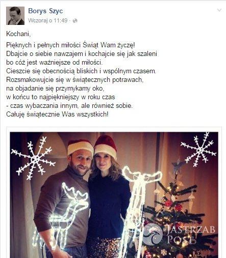 Życzenia bożonarodzeniowe od Borysa Szyca