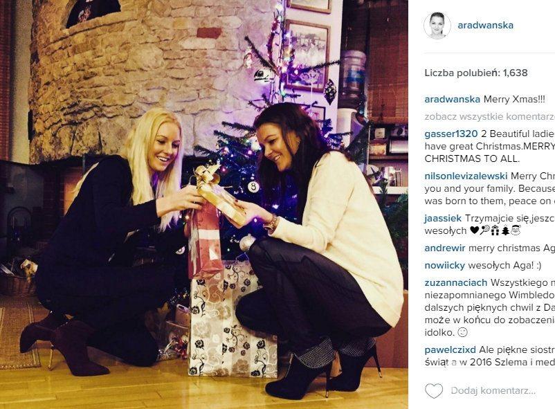Agnieszka i Urszula Radwańskie świętują Boże Narodzenie