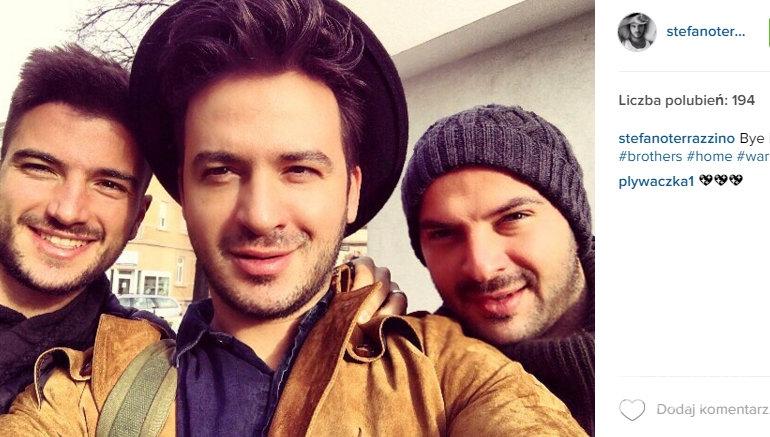 Stefano Terrazzino z braćmi na Instagramie