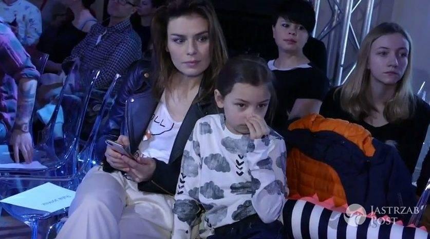 Na widowni usiadły Natasza Urbańska z córką Kalinką