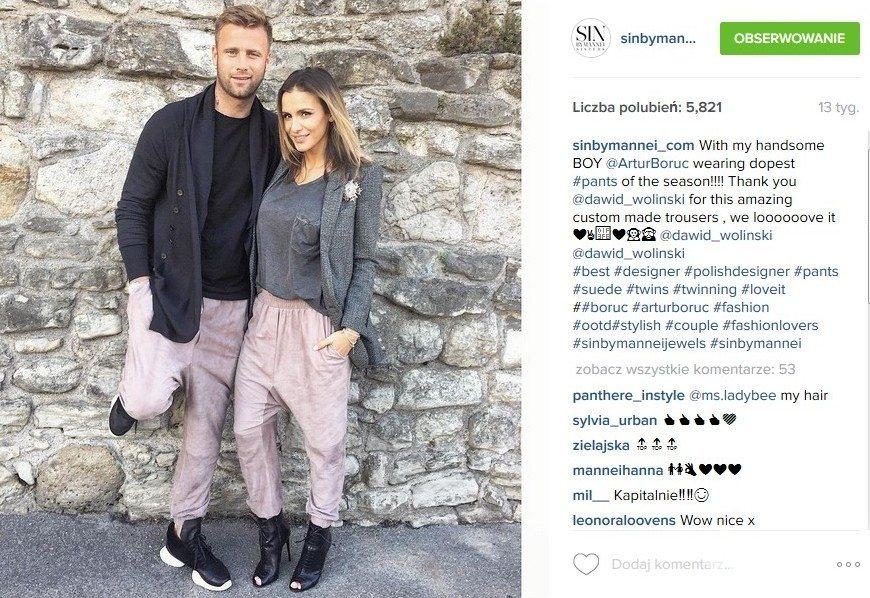 Artur i Sara Boruc (fot. Instagram)
