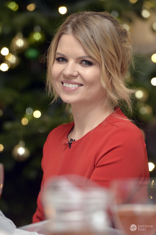 Marta Manowska na nagraniu świątecznego odcinka programu Rolnik szuka żony