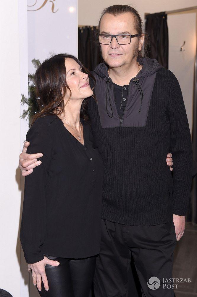 Robert Gawliński z żoną