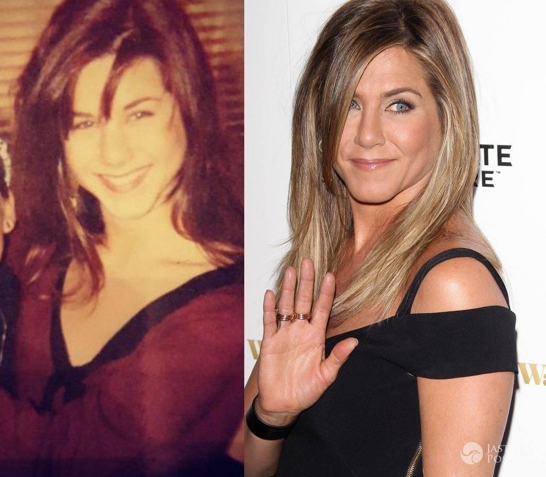 Jennifer Aniston na zdjęciu z 1990 roku kontra Jennifer Aniston na zdjęciu z dziś (fot. Instagram, ONS)