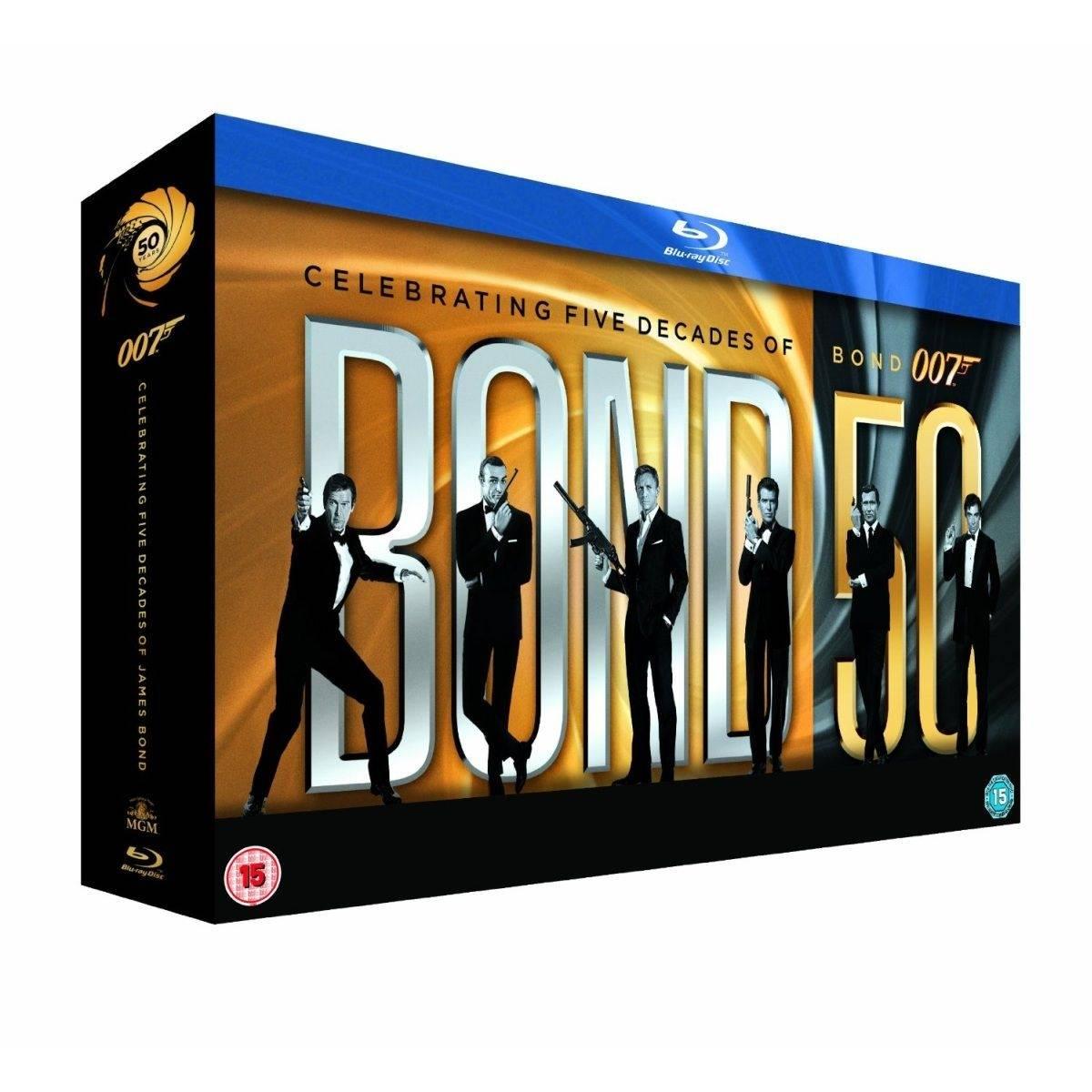 Kolekcja 23. części filmów o Jamesie Bondzie na Blu-ray, 699,99 pln