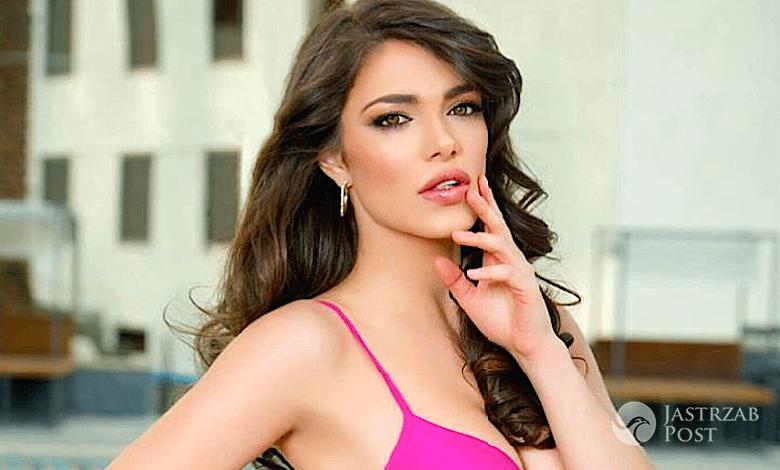 Miss Austrii Amina Dagi jako Conchita Wurst na Miss Universe 2015