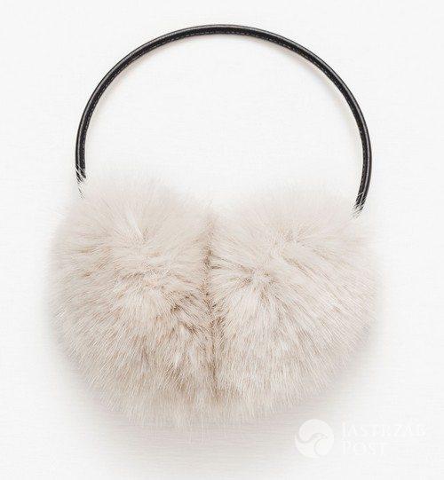 Futrzane nauszniki, Zara, 69,90 pln