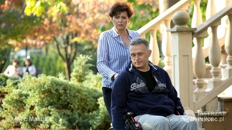M jak miłość odcinek 1196, Marysia (Małgorzata Pieńkowska), Artur (Robert Moskwa)