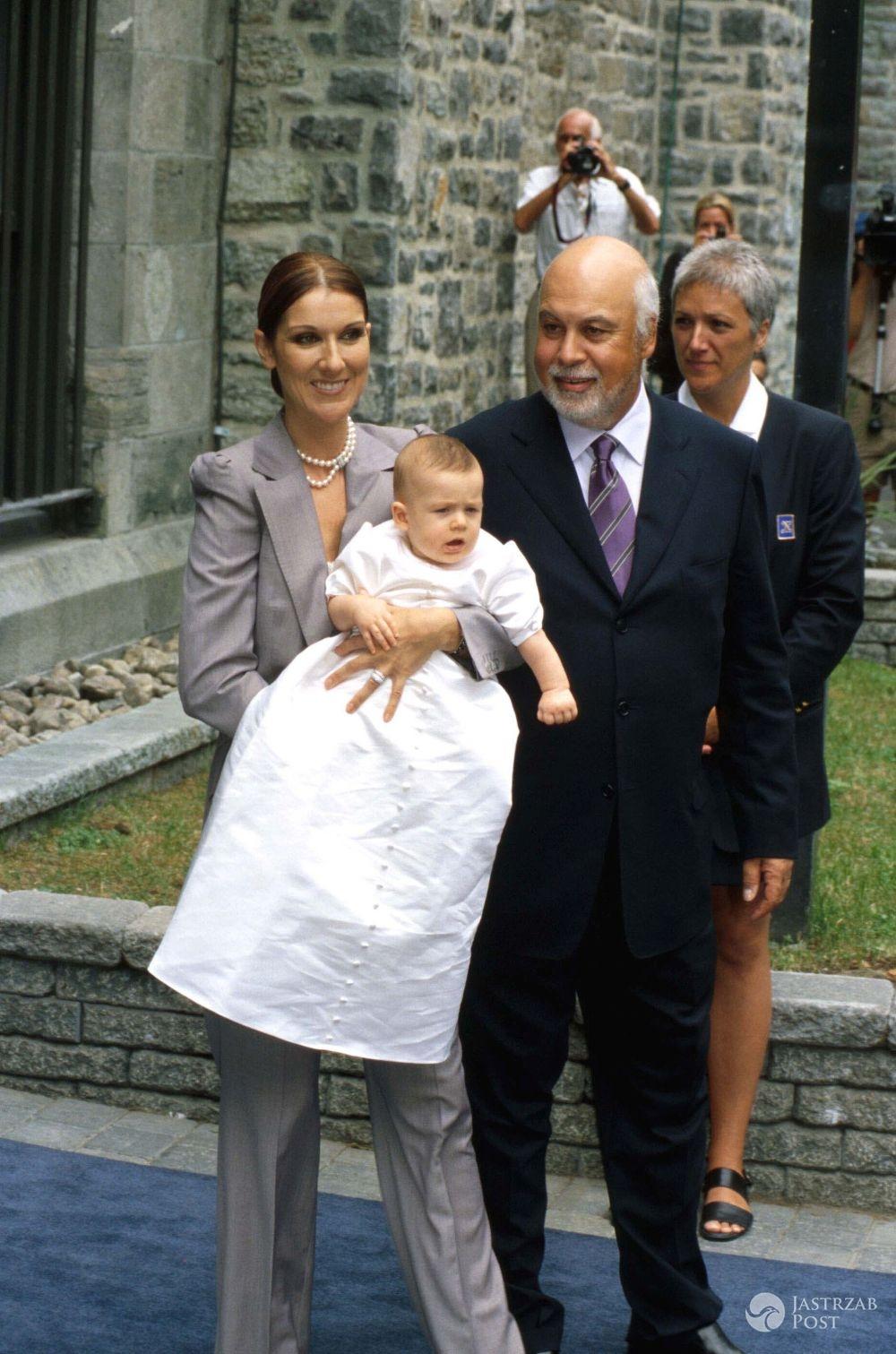 Celine Dion i jej mąż Rene oraz ich syn Rene-Charles