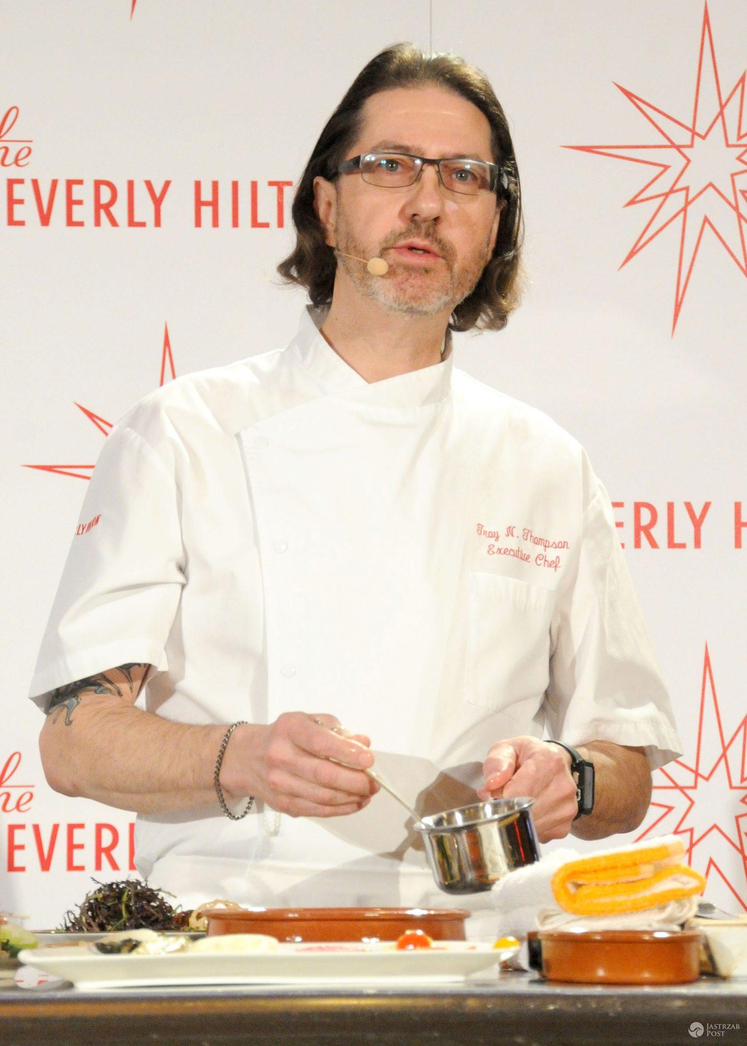 Troy N. Thompson., szef kuchni Beverly Hilton Hotel, prezentuje menu 73. edycji Złotych Globów (fot. ONS)