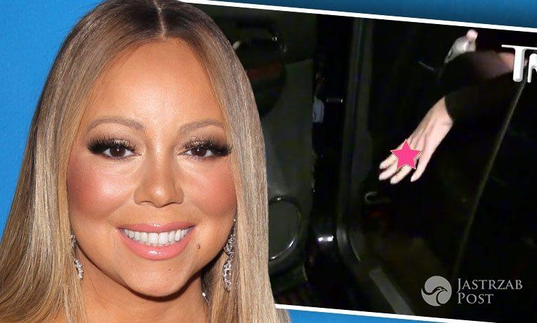 Pierścionek zaręczynowy Mariah Carey (fot. ONS, YouTube TMZ)