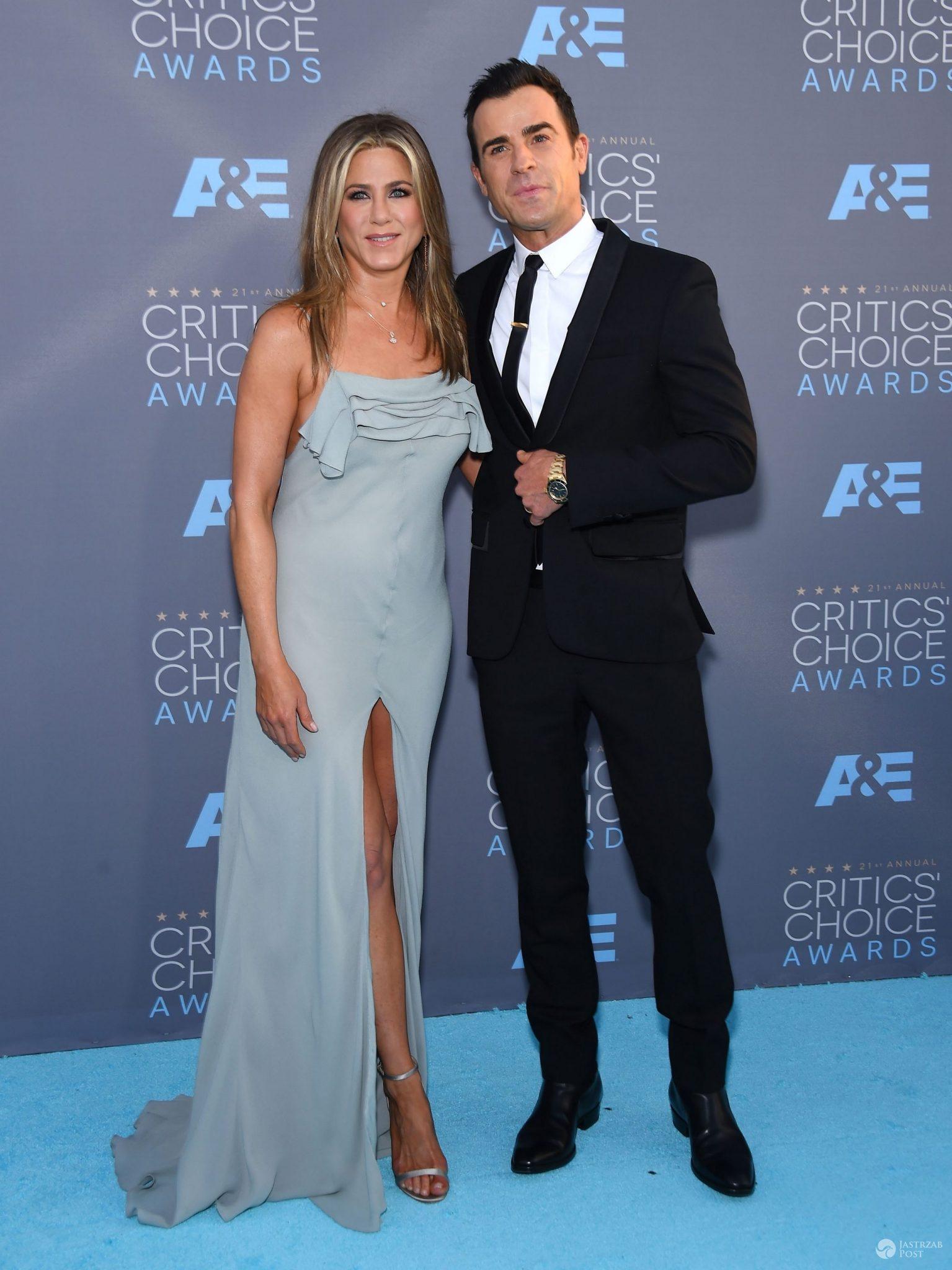 Jennifer Aniston i Justin Theroux, Critics' Choice Awards 2016 (fot. ONS)