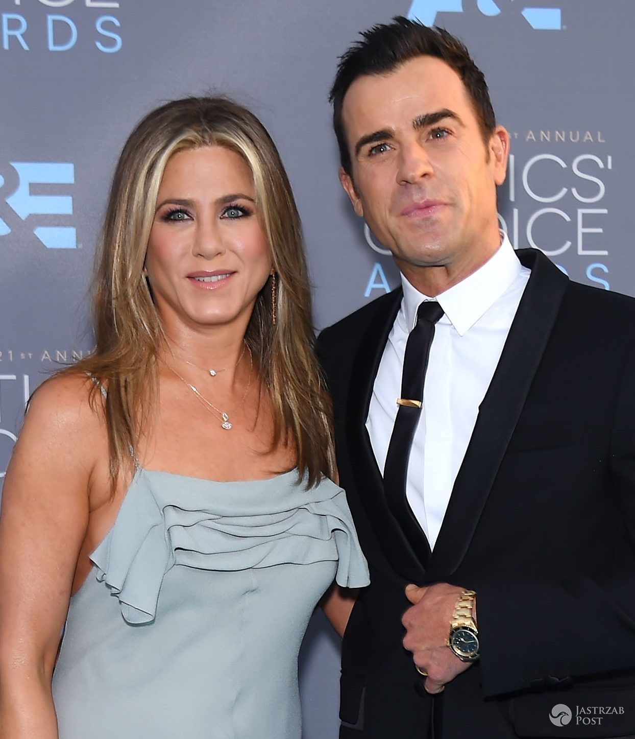 Jennifer Aniston, Justin Theroux, Critics' Choice Awards 2016 (fot. ONS)