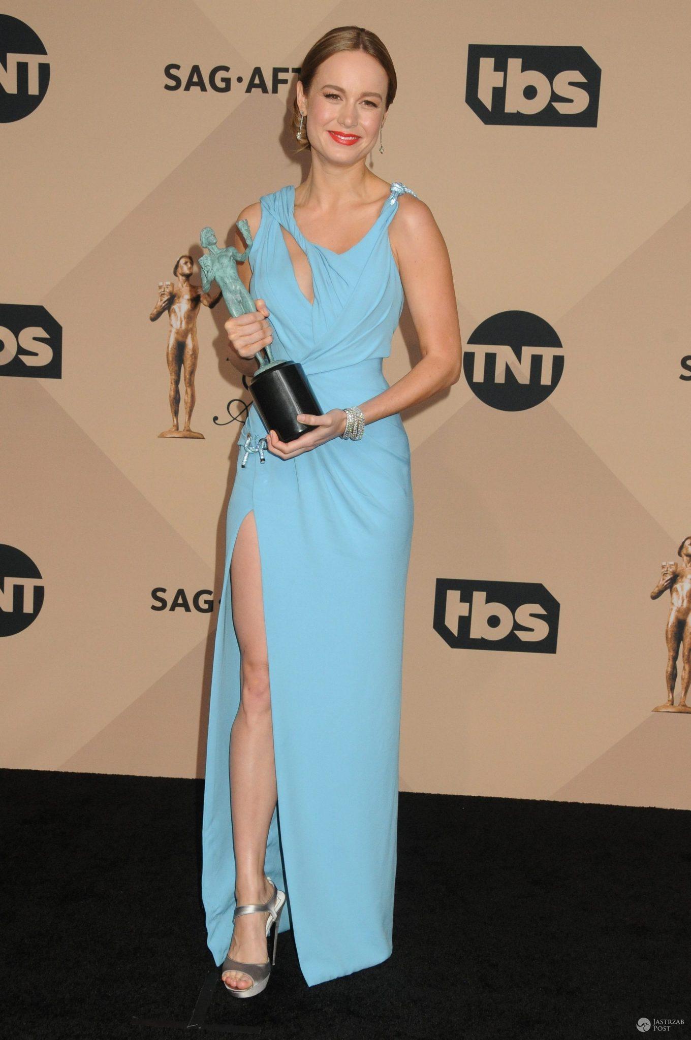 Kreacja: Atelier Versace. Brie Larson, SAG Awards 2016 (fot. ONS)