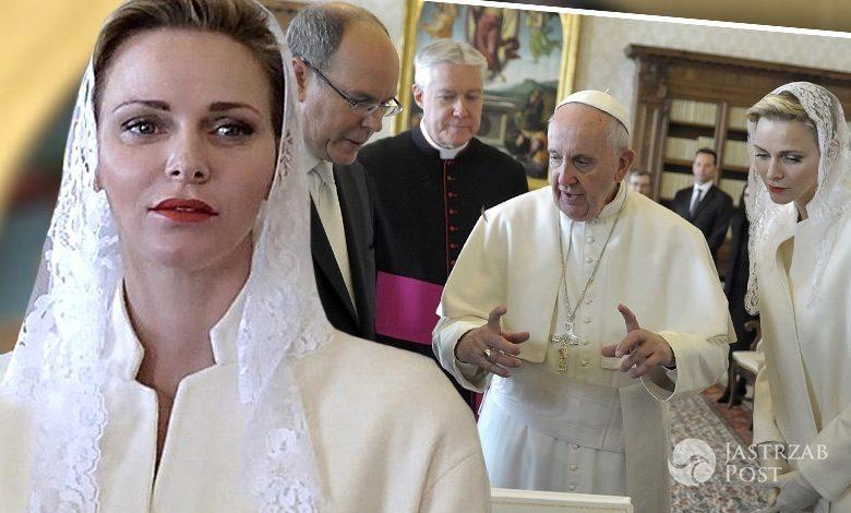 Książę Monako Albert II i księżna Charlene na prywatnej audiencji u papieża Franciszka (fot. ONS)