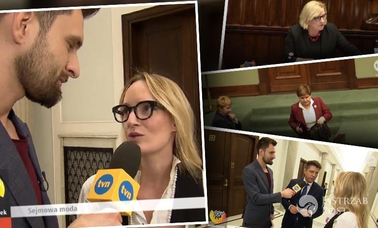 Sejmowa moda okiem Dzień dobry TVN. (fot. Dziendobry.tvn.pl)