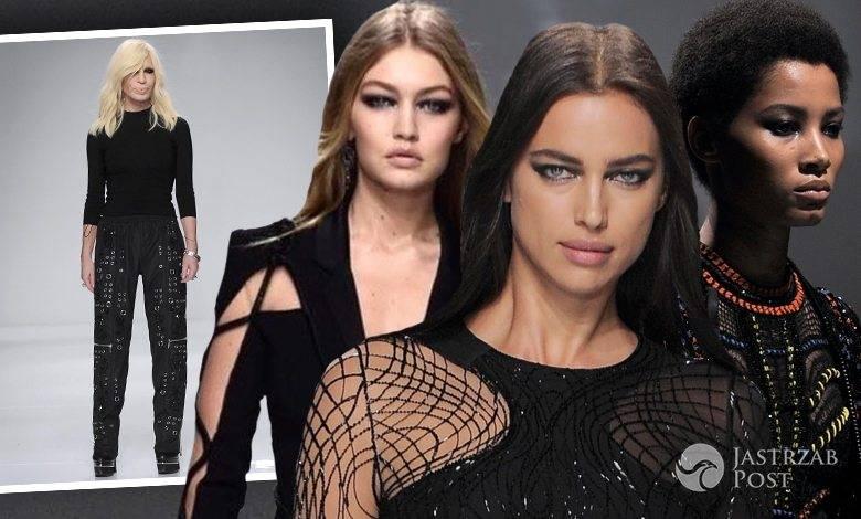 Modelki w pokazie kolekcji haute couture Atelier Versace wiosna-lato 2016 (fot. ONS, Instagram)