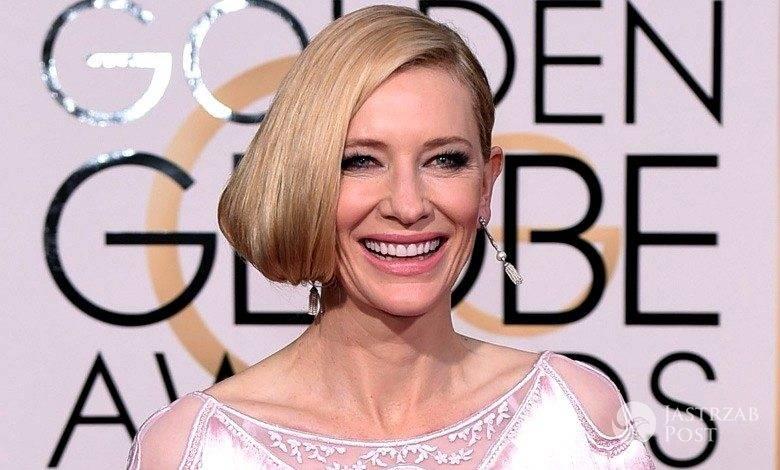 Biżuteria: Tiffany & Co. Kreacja: Givenchy. Cate Blanchett, Złote Globy 2016 (fot. East News)