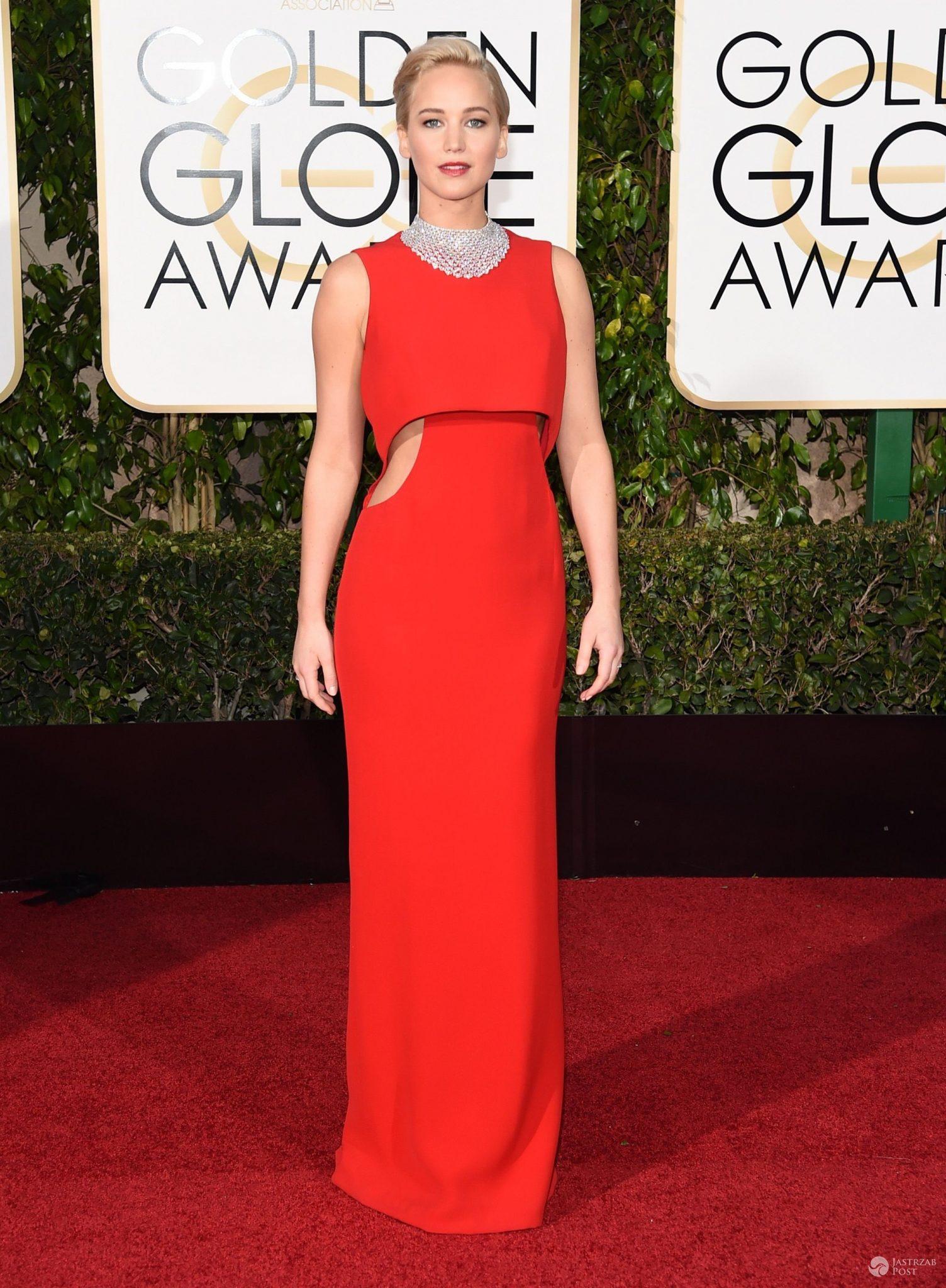 Kreacja: Dior. Jennifer Lawrence, Złote Globy 2016 (fot. East News)