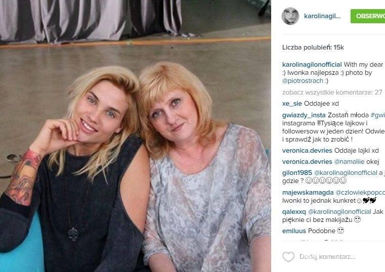 Karolina Gilon z mamą Iwoną