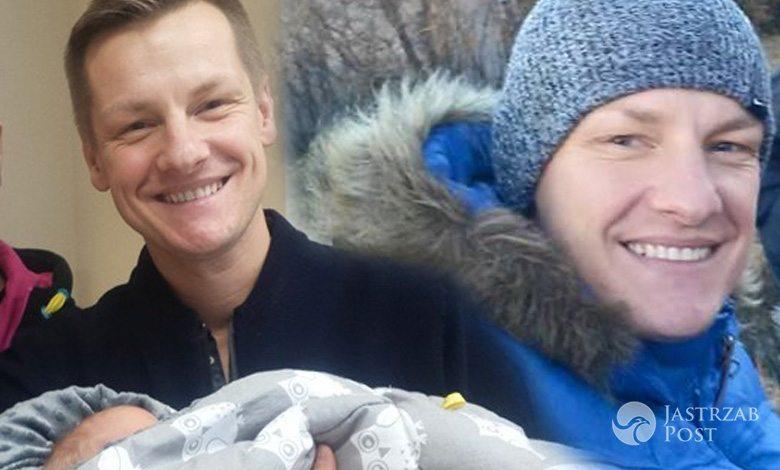Marcin Mroczek z rodziną na spacerze