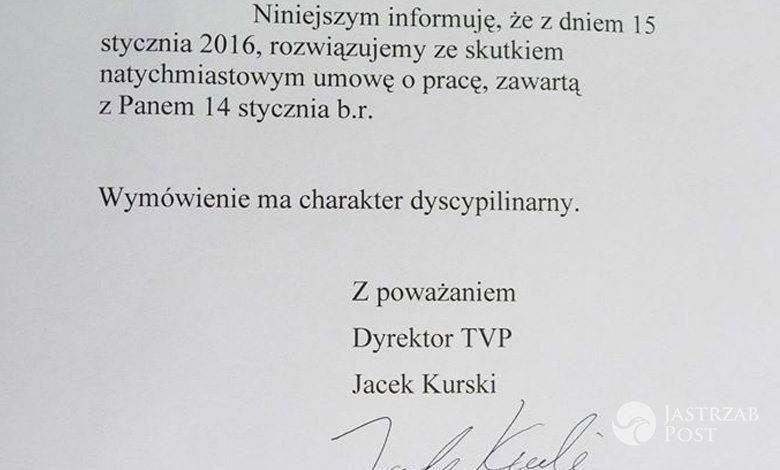 Szymon Majewski zwolniony z TVP fot. Facebook.com