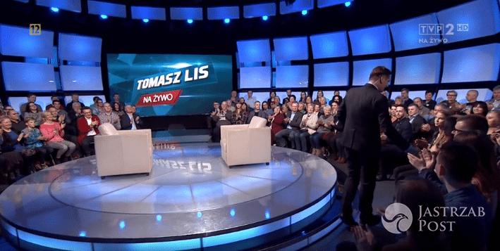 """Tomasz Lis, screen z programu """"Tomasz Lis na żywo"""""""