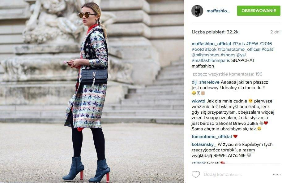 Maffashion, tydzień mody w Paryżu (fot. Instagram)