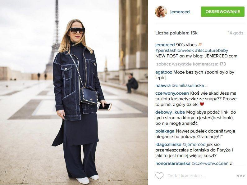 Jessica Mercedes, tydzień mody w Paryżu (fot. Instagram)