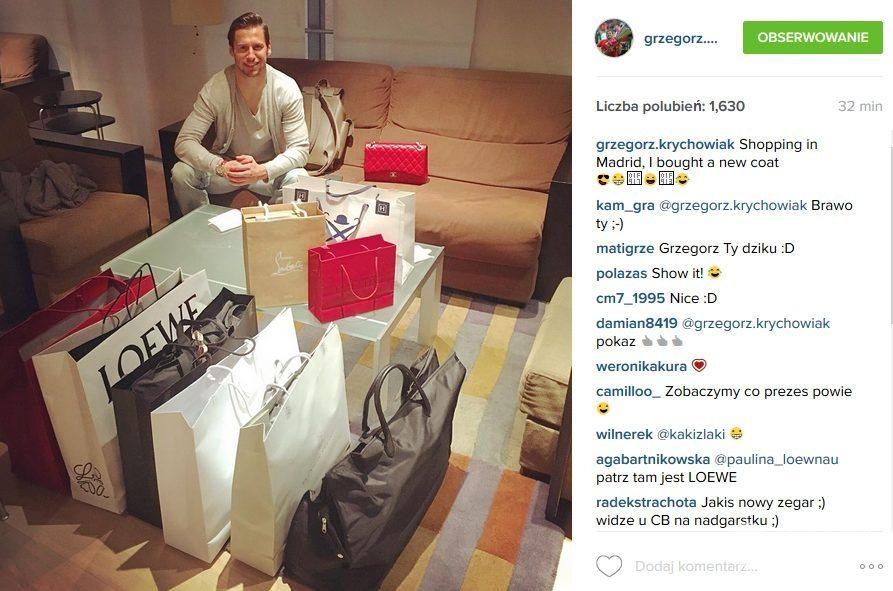 Grzegorz Krychowiak na zakupach w Madrycie