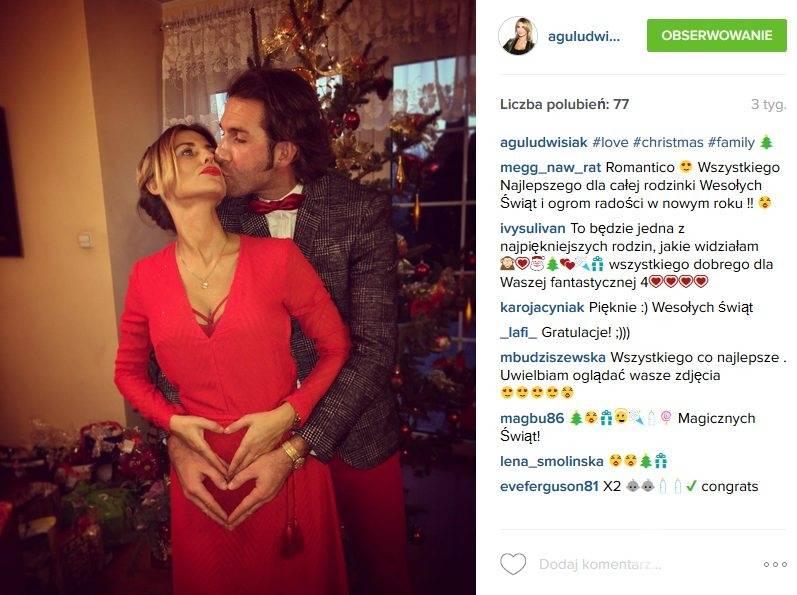 Agnieszka Ludwisiak-Wypior i Szymon Wypior będą rodzicami bliźniąt (fot. Instagram)