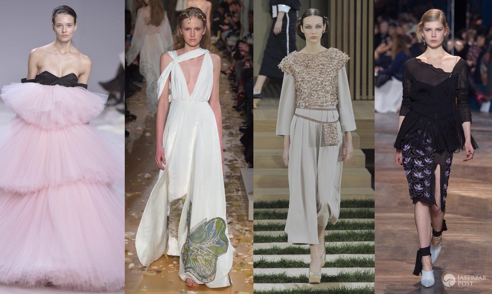 Od lewej: Alicja Tubilewicz (pokaz Giambattista Valli), Paula Gałecka (pokaz Valentino), Ala Sekuła (pokaz Chanel), Ola Rudnicka (pokaz Dior) (fot. ONS)