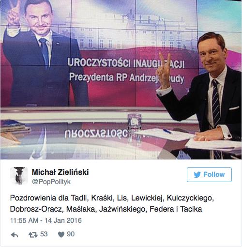 Krzysztof Ziemiec obraził internautę