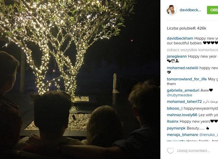 Brooklyn, Romeo, Harper i Cruz Beckhamowie składają noworoczne życzenia