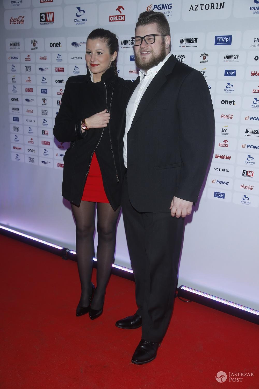 Paweł Fajdek z żoną - Gala Mistrzów Sportu
