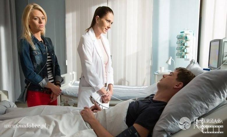 Na dobre i na złe odcinek 621, Szczepan (Kamil Kula), Lena (Anita Sokołowska), Agata (Emilia Komarnicka)