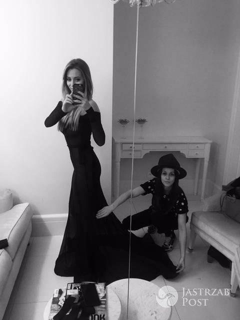 Malwina Wędzikowska zaprojektowała suknię na sylwestra Marcelinie Zawadzkiej fot. materiały prasowe