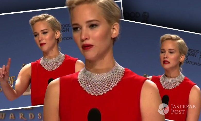 Jennifer Lawrence kontra dziennikarz, Złote Globy 2016