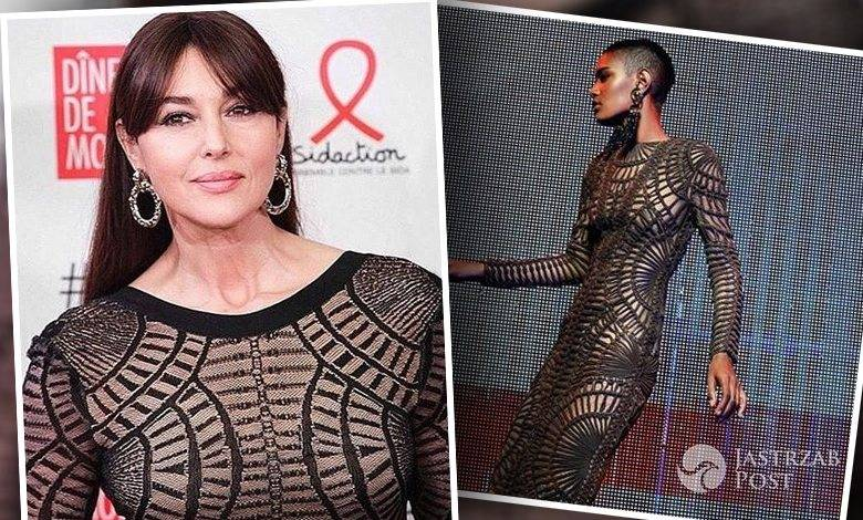 Monica Bellucci w sukni Balmain na Sidaction Gala Dinner 2016 (fot. Instagram)