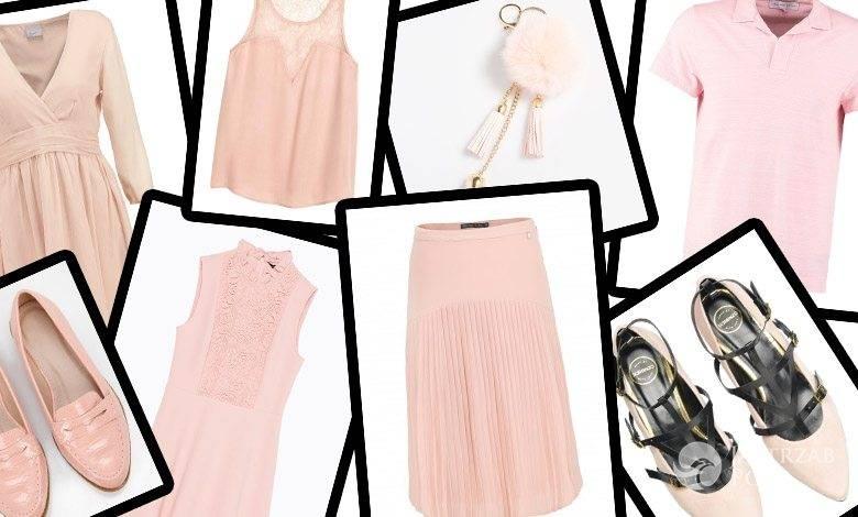Ubrania w kolorze kwarcowego różu