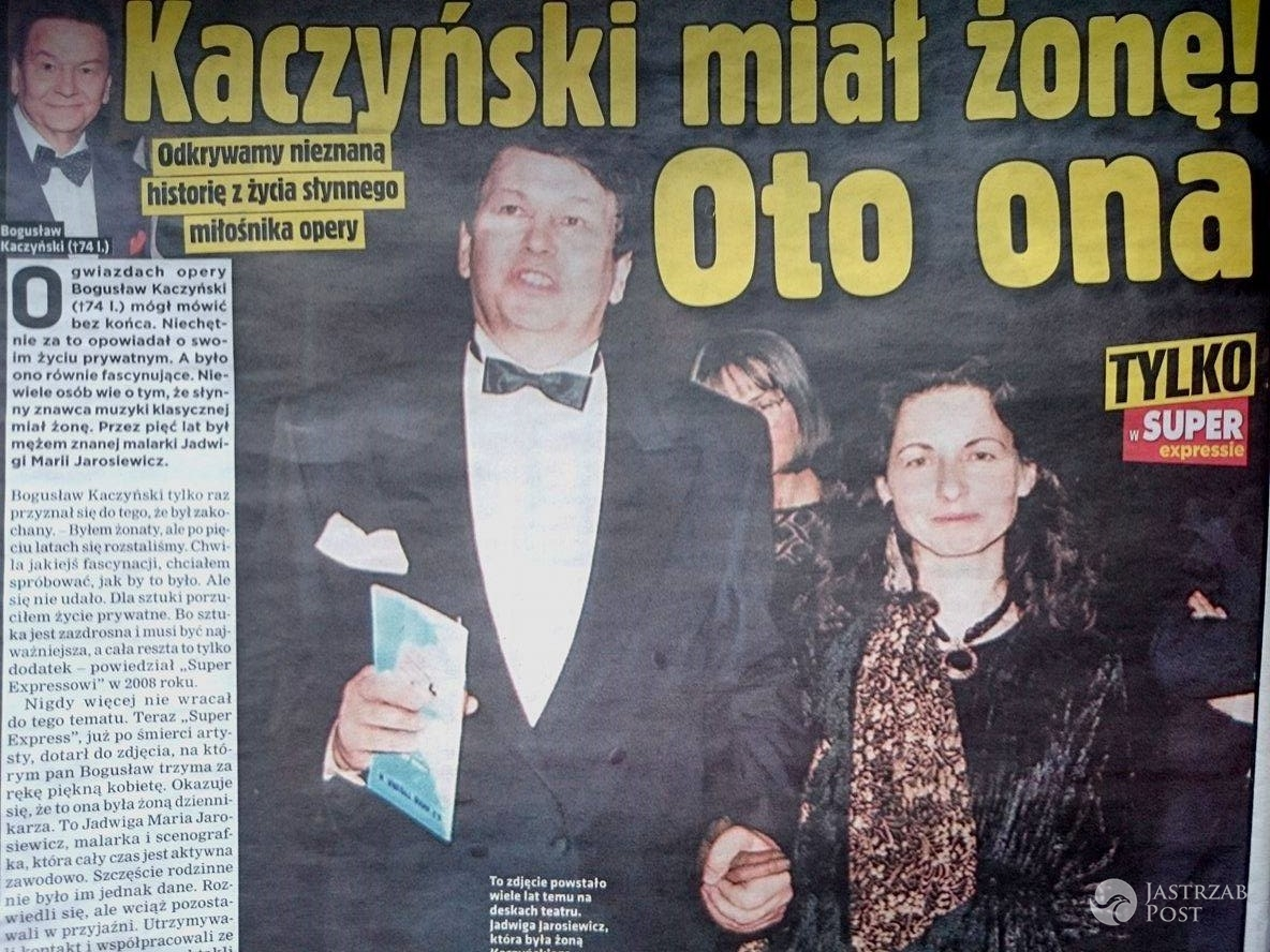 Bogusław Kaczyński i Jadwiga Jarosiewicz / screen z Super Expressu