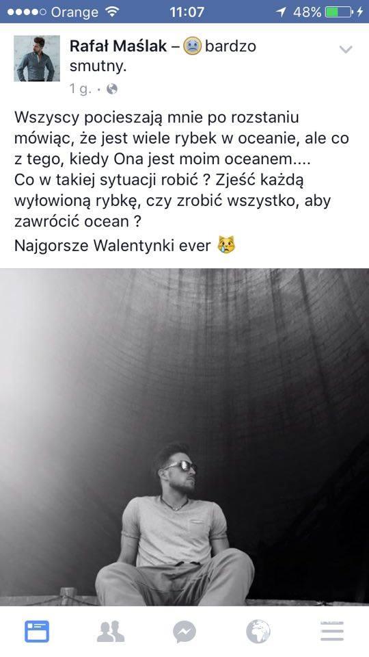 Rafał Maślak o rozstaniu z Kamilą Nicpoń