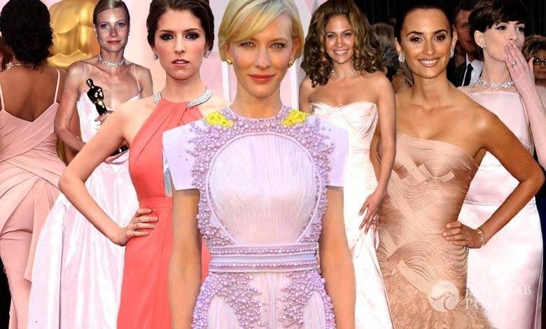 Gwiazdy w różowych sukienkach na Oscarach (fot. ONS, East News)