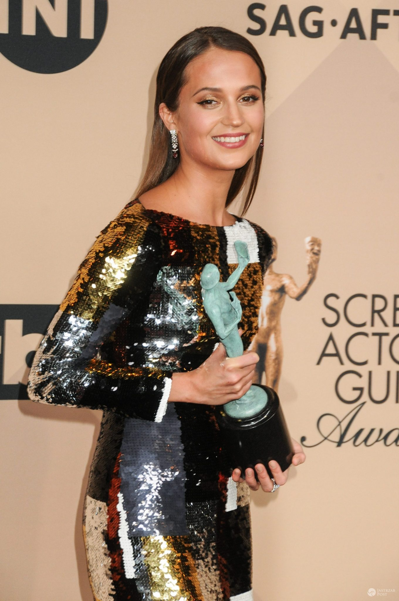 Alicia Vikander, najlepsza aktorka drugoplanowa, SAG Awards 2016 (fot. ONS)