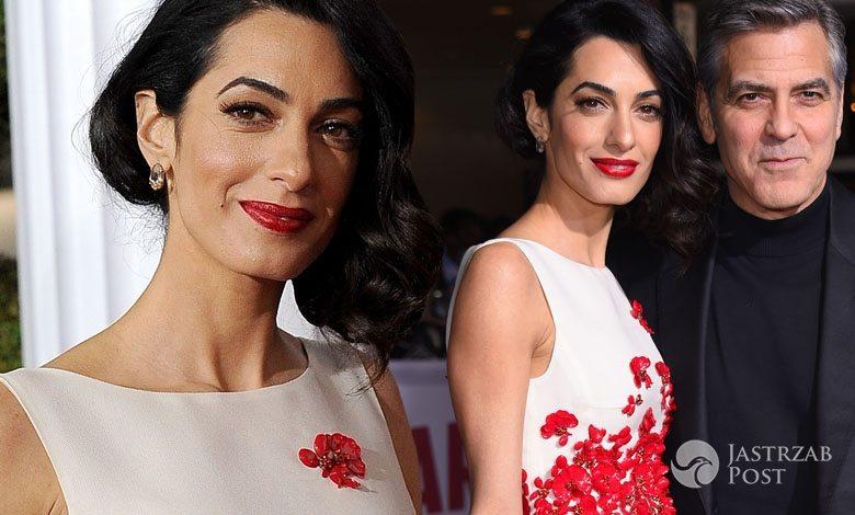 "Sukienka: Giambattista Valli. Amal Clooney, premiera ""Ave, Cezar!"" (fot. ONS)"